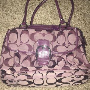 Gorgeous purple Coach laptop/diaper bag